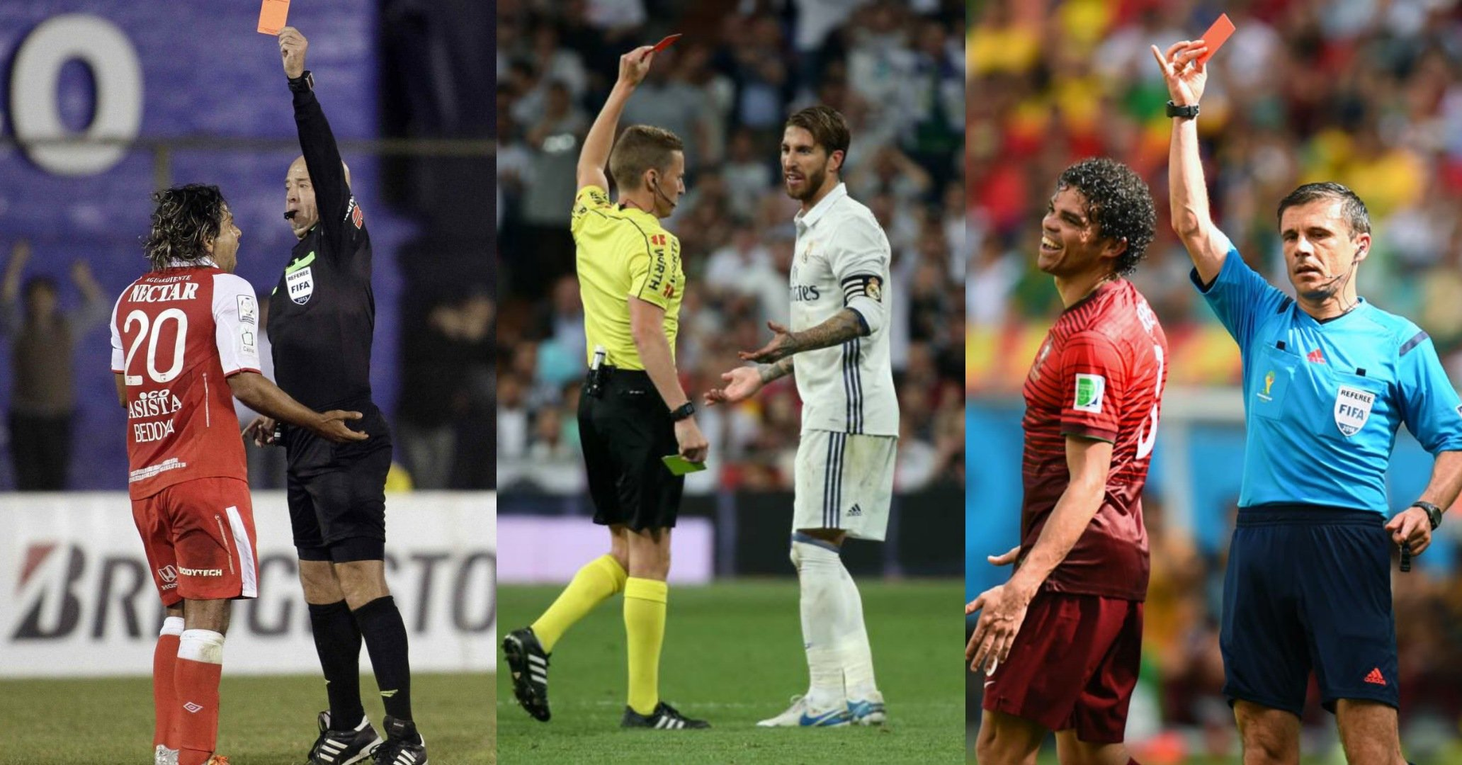 Footballer with most red cards