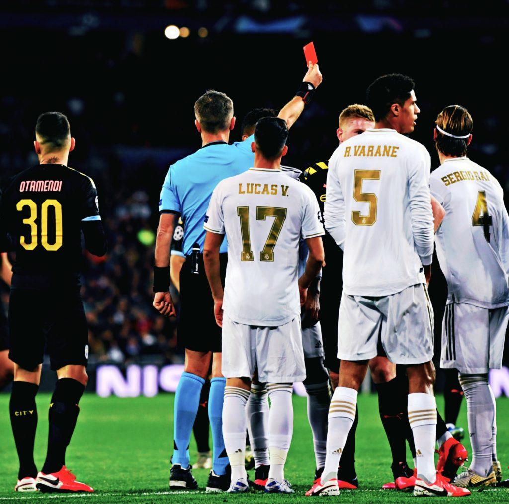 Ramos red card