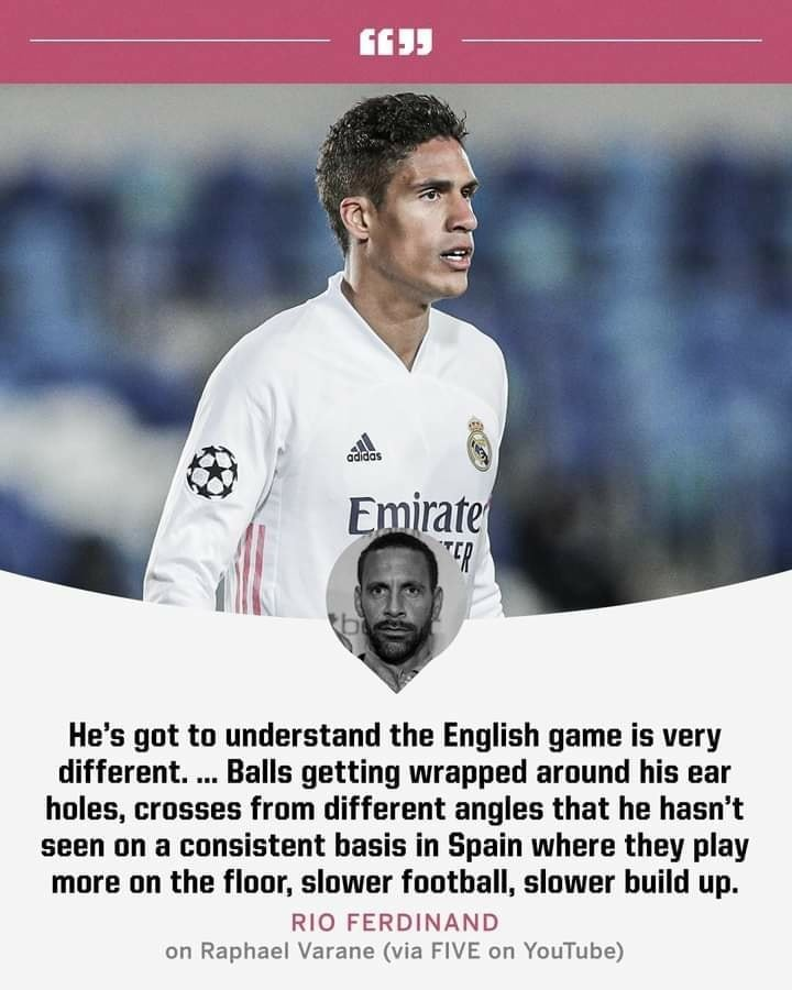 Rio Ferdinand On Raphael Varane
